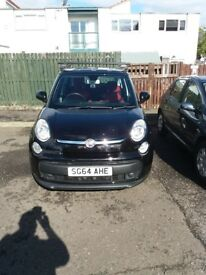 Fiat 500L Black, VG Condition inside and out