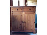 Pine cupboard with draws
