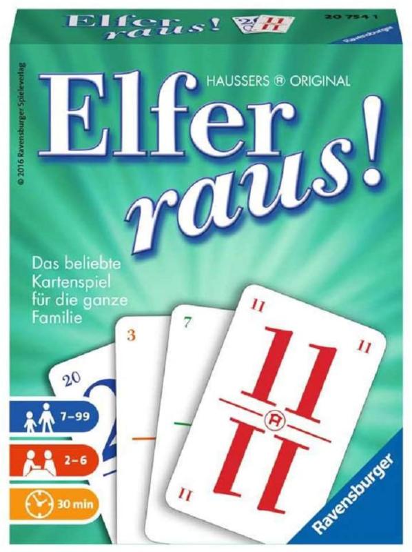 Ravensburger - Elfer Raus - Kartenspiel Kartenlegespiel Legespiel 11er Raus