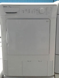 F367 white beko 7kg condenser dryer comes with warranty can be delivered or collected
