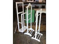 White Clothes Stands/ Towel Rails - NEW