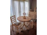 Gorgeous French inspired shabby chic table and 2 chairs