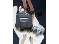 retro gaming nintendo 64 console, 1 pad, power lead and av cable, (no games) £50