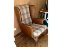 Vintage re-upholstered Wingback/Fire side/Arm chair/Club chair