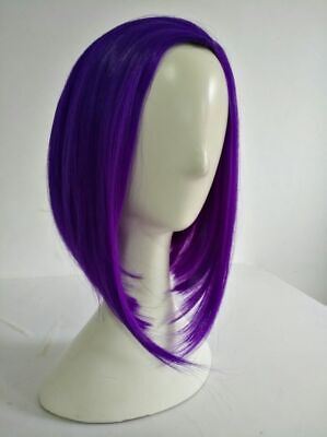 Teen Titans Raven Cosplay Wig Purple Heat Resistant Synthetic Hair Wigs +Wig Cap - Raven Cosplay Teen Titans