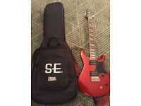 PRS SE Santana Cherry Red Guitar + PRS Gig bag