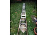 Double Extension Ladder Aluminium 20 feet Closed 40 feet Extended