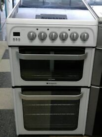 a734 white hotpoint 50cm electric cooker comes with warranty can be delivered or collected