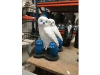 Football related owls ornament indoor/outdoor