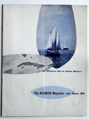 ATLANTIC MAGAZINE GAS STATION OIL REFINING July-Aug 1958 vG++