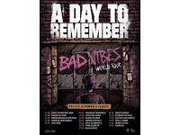 A DAY TO REMEMBER- concert tickets
