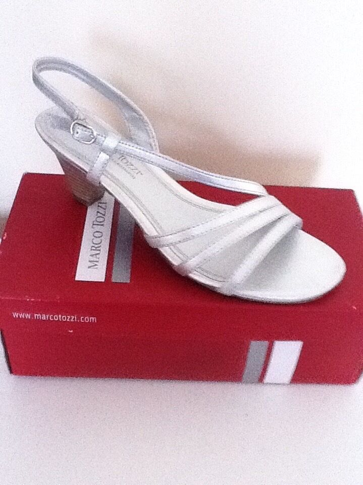 Marco Tozzi Sandals Silver Sandals by Marco Tozzi
