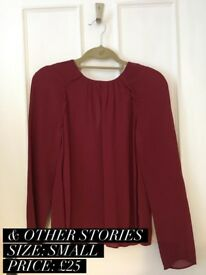 & Other Stories - long Sleeve red top FOR SALE