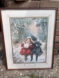 Advent print illustrated london news A young romance picture