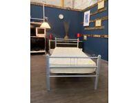 Metal single bed set inc mattress st