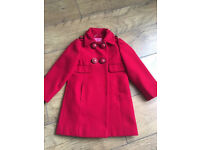 A Lovely Next Girls Red Coat age 3-4