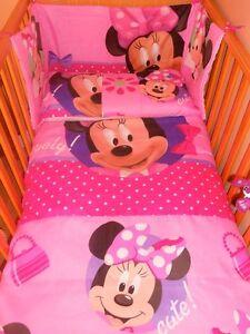 Details about disney minnie mouse pink cerise bedding set all sizes