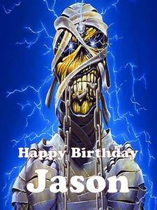 Personalised Iron Maiden ANY RELATION Birthday Greeting Card & Envelope 108