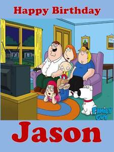 Personalised Family Guy ANY RELATIONSHIP Birthday Greeting ...