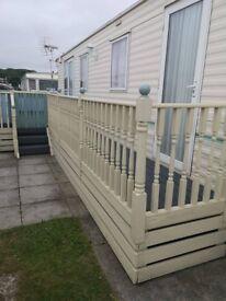 static caravan decking / veranda