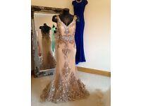 Gold Beige Debs/Formal Dress from Rosie's Closet