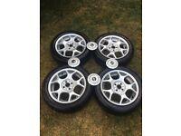 "Mini cooper s wheels 16"" with centre caps 4x100"