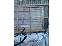 Wooden overlap fencing panels