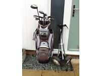 Ladies golf clubs with bag and trolley