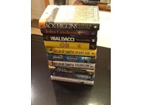 10 x Hardback Thriller/Mystery books (2012- 2016). Read once. As new. £25.00