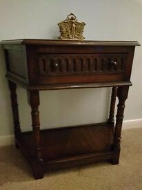 Rare Vintage Oak Jacobean style Hall Table by Bevan Funnell
