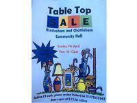 Table Top Sale - Sun 9th April