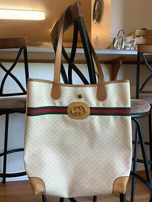 "Vintage Gucci ""Rare"" tote bag made in Italy"