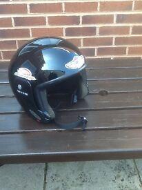 Men's open face crash helmet