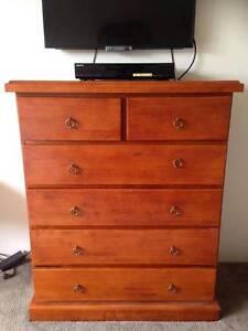 Solid Wood Tallboy Dresser Success Cockburn Area Preview