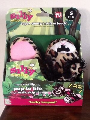 8629a4dc869 Silly Slippeez! Lucky Leopard Plush Small Kids Shoes Size 11-12 Adorable!