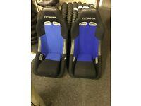 Cobra seats in blue clubman/mini/ kit car seats