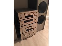 teac system stereo compact gold acoustic speakers