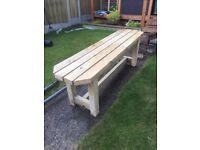 Brand new fresh made treated garden bench 5ft 2 inches long