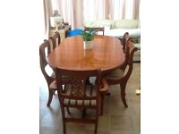 Dining room table & chairs.