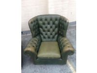 Leather chesterfield seats £75 each
