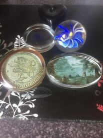 4 x Paperweights