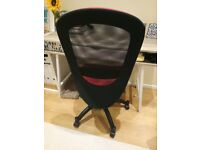 Swivel chair - black and red