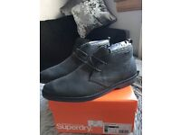 Superdry Leather Boots, BRAND NEW & GENUINE, size 10