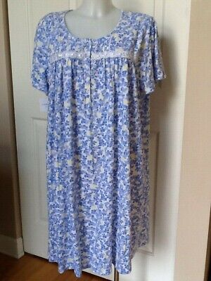 Croft & Barrow Knit Cotton Blend Short Sleeve Bluel Nightgown Plus 2X NWT Cotton Short Sleeve Gown