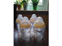 150ml and 260ml bottles and sterilizer (barely used)