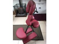 Perfect condition massage chair - burgandy