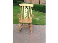 Solid Pine farmhouse rocking chair