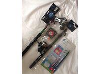 2 x Boyz Toys Fishing Rod 1.25m Meter Telescopic