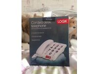 LOGIK Corded Phone With speakerphone/ Big Buttons - Brand New