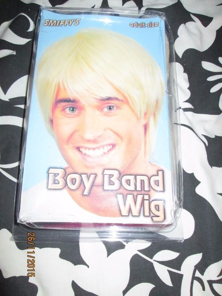 80S BOY BAND BLONDE FANCY DRESS WIG GREAT FOR A PARTY OR STAG DO